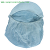 Nonwoven snood cap with peak